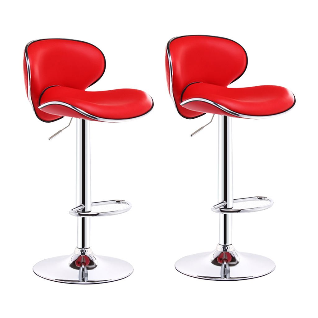 C×2 Bar Stool,Bar Chair Bar Stool Chair Counter Chair 360 Degree redation Lift Office Chair Kitchen Restaurant Bar Stool Chair Curved high Back Single Double Beauty Chair 6 colors Counter Chair