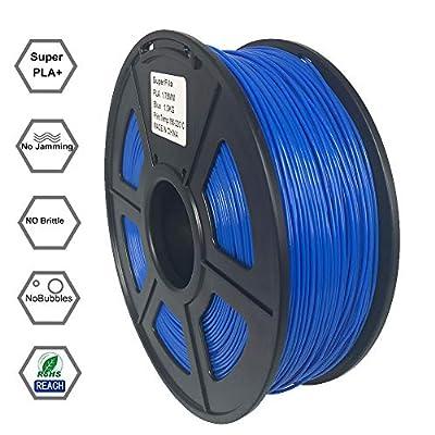 Superfila PLA 3D Printer Filament, Dimensional Accuracy +/- 0.03 mm, 1 kg Spool, 1.75 mm, 10 Colors