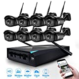 JOOAN 1.3 MP 960P 8 Channel NVR Network Motion Detection CCTV Surveillance Recorder with 8 pcs 960p Wireless IP Camera Wireless Security System No HDD