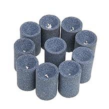MonkeyJack 10-Pieces Round Professional Dart Sharpener Dart Accessories Sand Stone for Steel Tip Point Needle Darts Sharpening