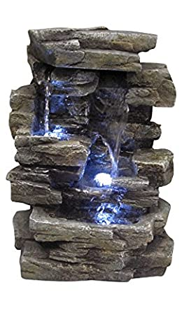 Alpine WIN220 Waterfall Tabletop Fountain with White LED Light (Alpine Pumps)