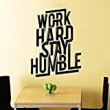 Wall Decals Work Hard Quote Decal Vinyl Sticker Home Decor Art Murals Work Hard Stay Humble Motivation Quote Art Design Bedroom Dorm Window Decals Chu880