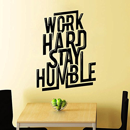 Wall Decals Work Hard Quote Decal Vinyl Sticker Home Decor Art Murals Work Hard Stay Humble Motivation Quote Art Design Bedroom Dorm Window Decals Chu880 by Thumbs up decals