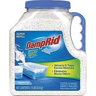 DampRid FG37 Moisture Absorber Refill, 7.5 lb, Fragrance Free