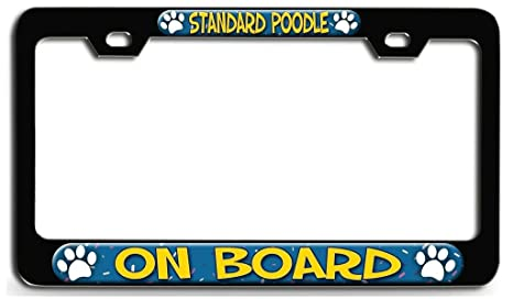 Amazoncom Yex Abstract Standard Poodle On Board Dog