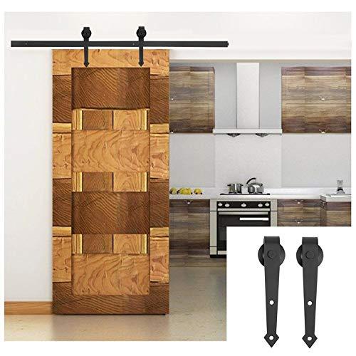 Matthew00Felix 6 FT quincaillerie pour portes de placard moderne Ensemble coulissant Kit Closet Piste de fer