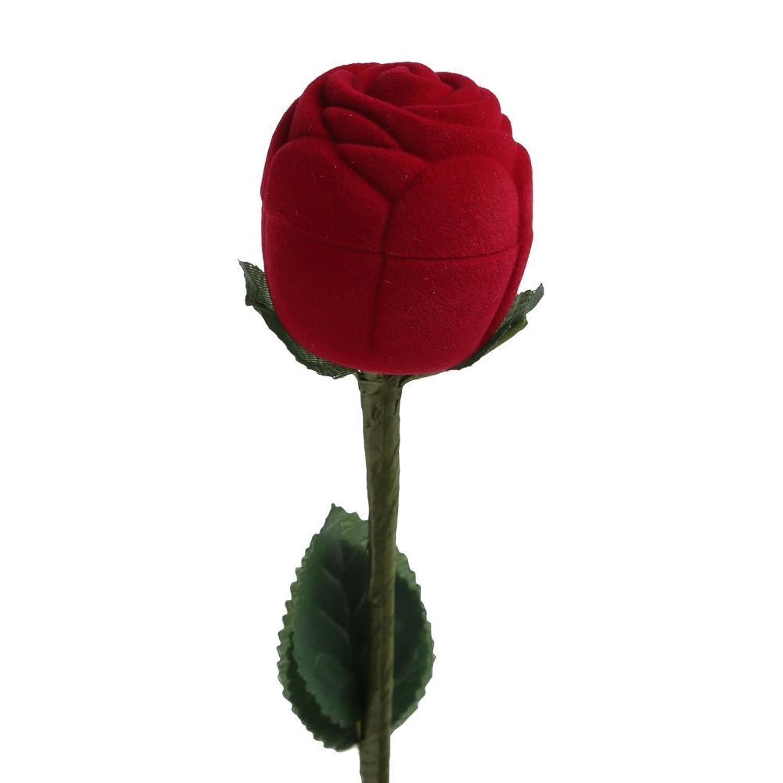 Extrêmement Boite pour bague en forme de rose romantique déclaration Écrin  PU44