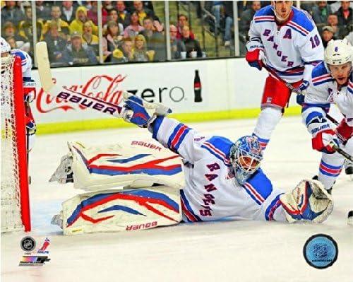 Size: 8 x 10 Henrik Lundqvist New York Rangers NHL Action Photo