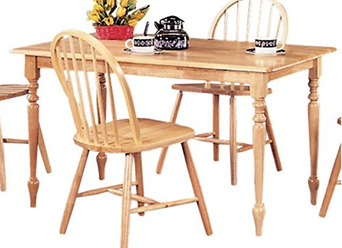 Small Kitchen Table, Dining Tables For Small Spaces, Rectangle, In Warm Natural Wood Finish-Create a perfect,casual dining experience in your home!
