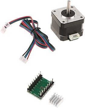 Sharplace Motor Paso A Paso Nema 17 40mm 1.8A Controlador de Motor ...
