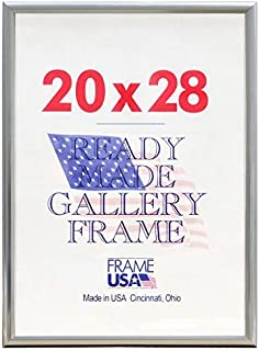 product image for Frame USA 20x28 Deluxe Polystyrene Plastic Poster Frames (Silver)