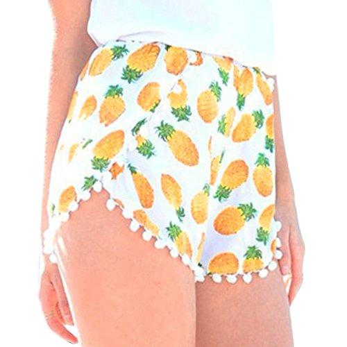 shorts eleganti da nappa pantaloni donna Giallo spiaggia cotone corti sportivi pigiama beautyjourney estivo jeans donna donna corti estate Pantaloncini Pantaloncini eleganti donna estivi qxHvXw