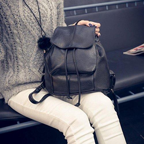 Clode® Moda mujer cuero Satchel hombro mochila Colegio mochila bolsos viaje