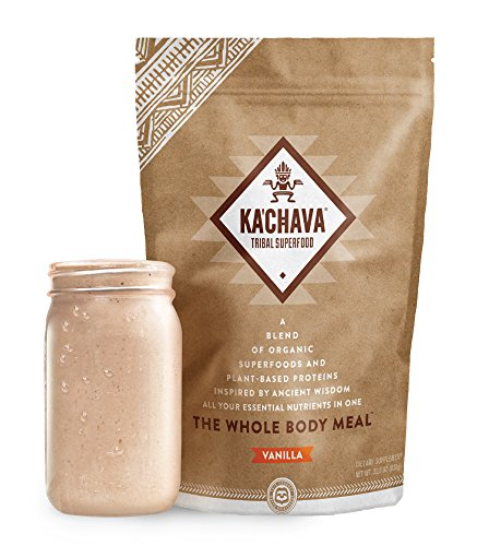 Ka'Chava Meal Replacement Shake - A Blend of Organic Superfoods and Plant-Based Protein - The Ultimate All-In-One Whole Body Meal. (Vanilla) 930g Bag = 15 meals (62g serving size) (Well Carb Balance Chocolate)