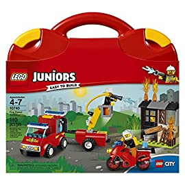 LEGO Juniors Fire Patrol Suitcase 10740 Toy for 4-7-Year-Olds NEW ❤️❤️❤️