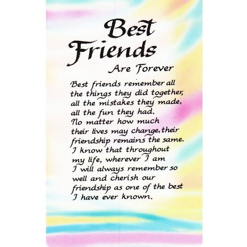 best friends are forever plastic wallet card by blue mountain arts