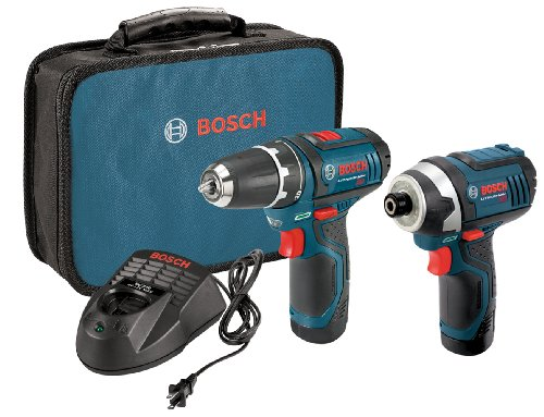 Bosch 12-Volt 2-Tool Combo Kit (Drill/Driver and Impact Driver) CLPK22-120 with two 12-Volt Lithium-Ion Batteries, 12V Charger and Carrying Case Bosch Impact Drill