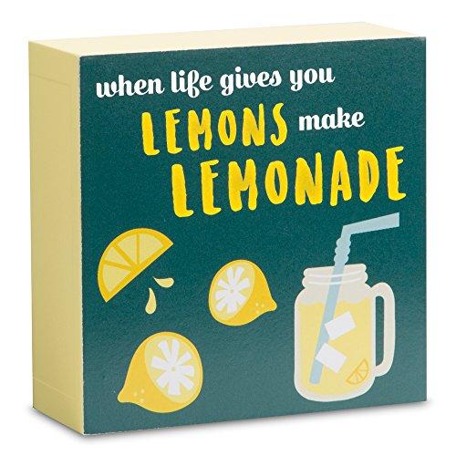 Decorative Life Gives You Lemons Make Lemonade Mini Plaque