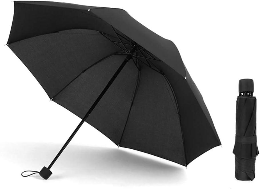 JUNDY Paraguas Compacto y Resistente al Viento, Paraguas Plegable, Conveniente para Viajes Paraguas automático plástico Negro Ampliar Color plegable8 107cm: Amazon.es: Hogar