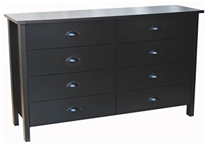 Amazoncom Venture Horizon 8 Drawer Nouvelle Dresser Black Kitchen