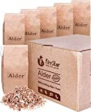 Alder wood chips for smokers - 6 packs wood chips for smoking - Woodchips made in Europe from alder smoking wood - bbq smoking chips for gas | charcoal | electric smoker