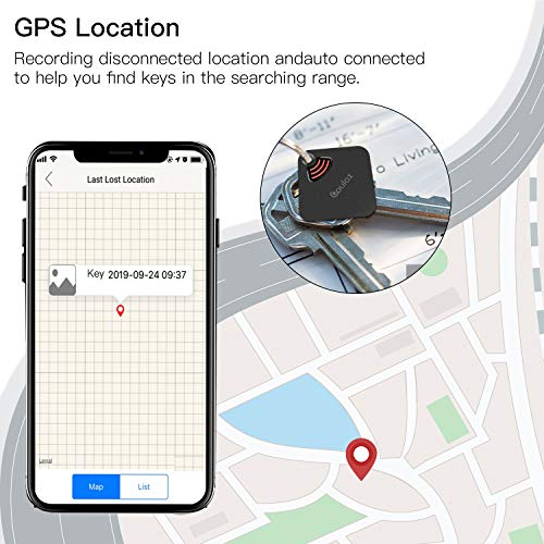 COULAX Key Finder, Phone Finder, Anything Finder, Bluetooth Item Locator with GPS, Rechargeable Key Finder Smart Tracker for Key, Wallet, Luggage, Phone, Umbrella
