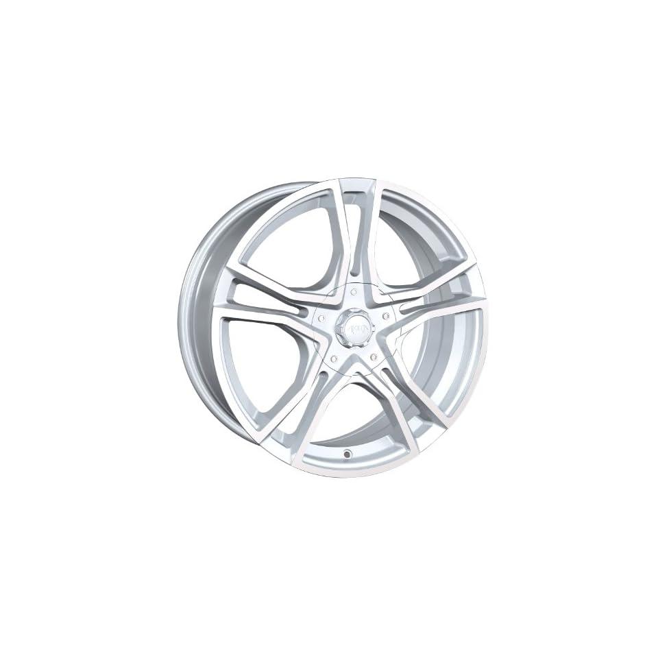 17x7 Akita AK 48 (485) (Hyper Silver w/ Machined Face) Wheels/Rims 4x100/114.3 (485 7701S) Automotive