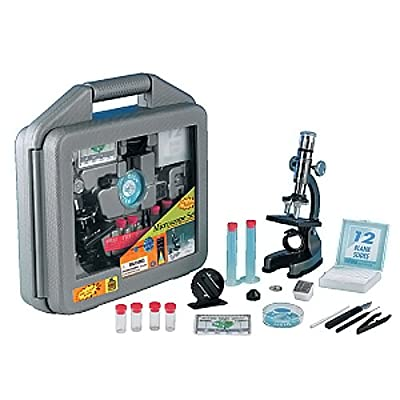 Kids Microscope :: Elenco Electronics Discovery Planet Microscope Set in Carrying Case from Elenco Electronics Inc