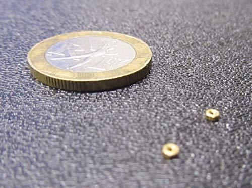 000-120 Thread x 5//64 W x 1//32 H 25 Pcs. Brass Hex Nuts RH