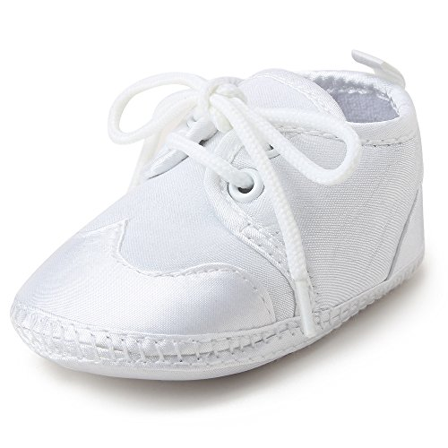 Pictures of OOSAKU Boys White Lace Up Christening Baptism 5