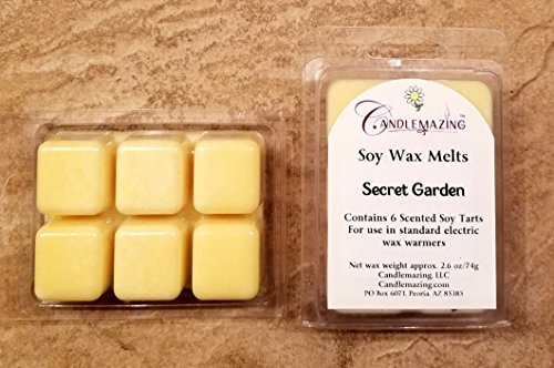 Candlemazing Secret Garden Scented Soy Wax Melts, Eco Friend