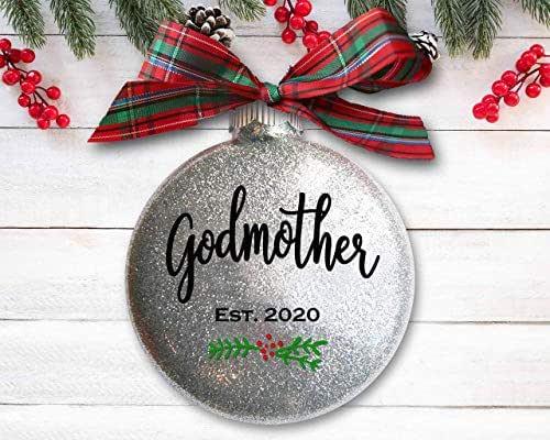 Amazon.com: Godmother Christmas Ornament, Christening or ...