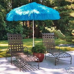 NEPTUNE 6FT TIKI BEACH PATIO MARKET UMBRELLA NEW blue color