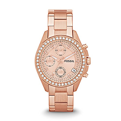 Fossil Chronograph Rose Gold Dial Women's Watch – ES3352