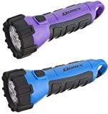 Cheap Dorcy 41-2510 Floating Waterproof LED Flashlight with Carabineer Clip, 55-Lumens (Blue/Purple)