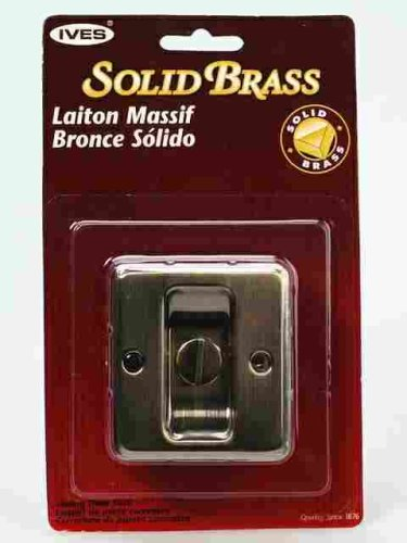 SOLID BRASS POCKET DOOR PRIVACY LOCK Ives Antique Brass Solid Brass CP991B5 Emergency Button Pocket Door Lock