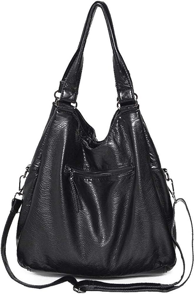 Women Multi Pocket Tote Hobo Shopper Large Crossbody Shoulder Bag Ladies Handbag