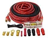 4 Gauge Amp Kit Amplifier Installation Wiring Complete Red Cable Fuse Holder 4GA