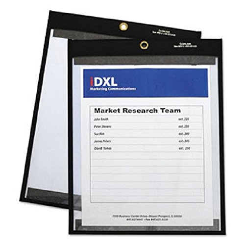 Magnetic Stitched Shop Ticket Holders, Clear, 12 x 9, 25/Box