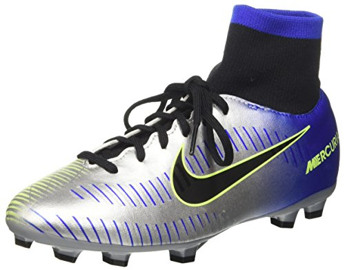 Nike Jr Mercurial VCTRY 6 DF NJR FG (2.5Y, Racer Blue/Black/Chrome Volt) ()