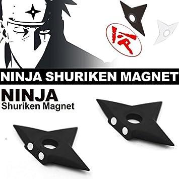 Famhome ninjia shuriken nevera imanes, asesino moda Plata