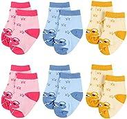 Cotton Newborn Baby Socks Infant Toddler Girls Short Sock Spring Summer 6-PACK