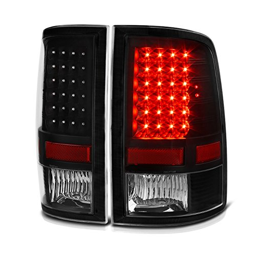 Lamps Lights Tail Euro Led (VIPMOTOZ LED Tail Light Lamp For 2009-2018 Dodge RAM 1500 2500 3500 - [Factory Incandescent Model] - Matte Black Housing, Driver & Passenger Side)