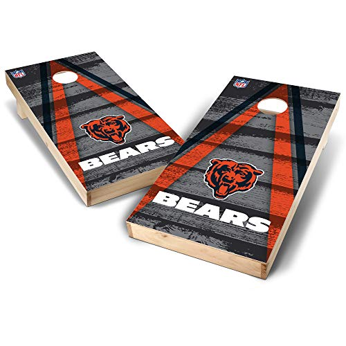 NFL Chicago Bears Unisex Chicago Bears 2' x 4' Authentic Cornhole Game Set - Vintage Triangle Designchicago Bears 2' x 4' Authentic Cornhole Game Set - Vintage Triangle Design, Team Color, 2'X4'