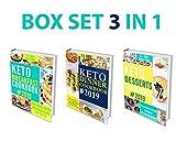 Keto Diet Cookbook: 3 in 1 Box Set – Keto Breakfast Cookbook, Keto Dinner Cookbook, Keto Desserts Cookbook ( Keto Baking Cookbook, Easy Recipes)