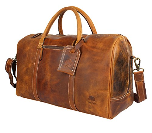 Leather Weekender - Leather Carry On Bag - Airplane Underseat Travel Duffel Bags By RusticTown