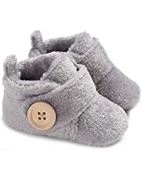 Gupgi Baby Boots Plush Warm Shoes Warm Winter Infant Prewalker Toddler Boots