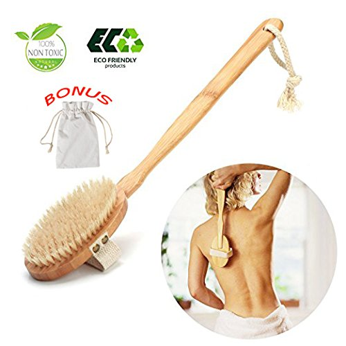 Dry Brushing Body Brush,Dry Skin Brush, Body Scrubber/Brush Perfect for Dry Skin Brushing, Shower And Bath, An Essential for Cellulite Reduction, Skin Exfoliation letforward