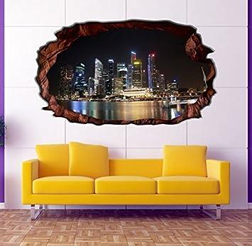 3D Wandtattoo Skyline Philippinen Hafen Wandbild Wandsticker ...