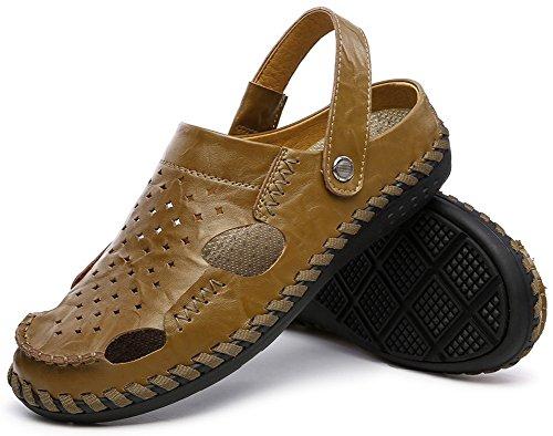 Vocni Mens Mode Casual Été Chaussures Sandales Kaki